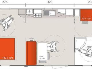 Location Mobil-Home Hélios : 4 à 6 personnes (Accessibilité PMR)